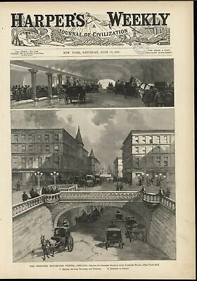 Proposed Horse Carriage Boulevard Tunnel Chicago Urban Development 1891