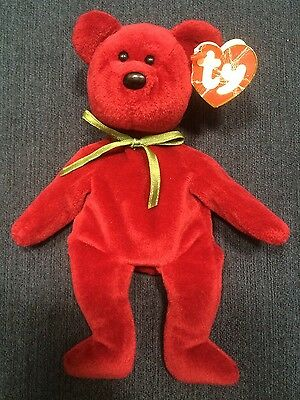 TY BEANIE BABY Teddy Cranberry 1st Gen Tags Style   4052 New Face ... cab9458e9b12