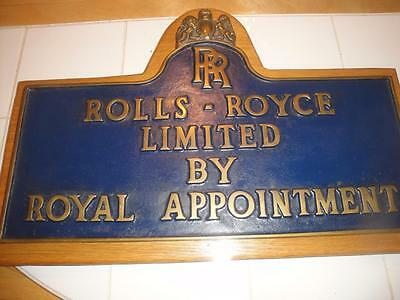 Rare Rolls Royce Plaque Sign By appointment only Rare