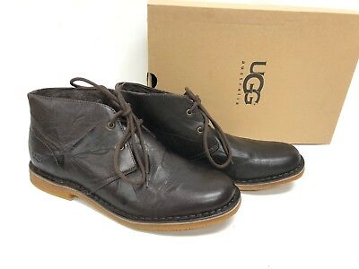6066e167993 UGG AUSTRALIA LEIGHTON Leather Chukka Ankle Desert Lace Boots 3275 Chocolate