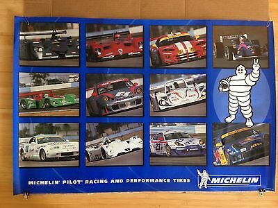 Michelin Pilot Racing and Performance Tires Porsche Dodge Le Mans Poster NEW