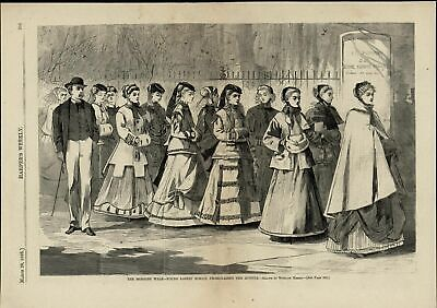 Young Ladies' School Promenading the Avenue 1868 Homer great old print display