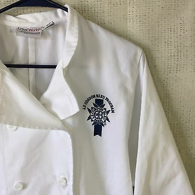 Lot of 2 Chef Works LE CORDON BLEU PROGRAM PARIS Chef Jacket Coat Small USED G43
