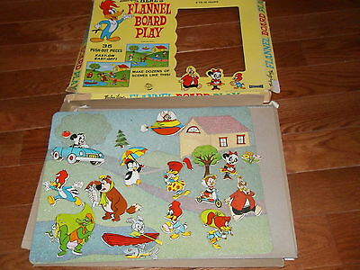 Vintage Walter Lantz Flannel Board Play Woody Woodpecker Game 1965 Nice