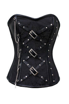 Corset Chains Buckles Studs Zips Your are in Heaven Steampunk Size 14 Fetish HOT
