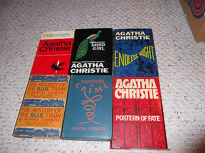 Agatha Christie Book Lot  -- Lot Of 6 Vintage Books