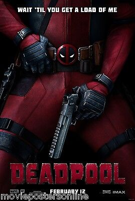 DEADPOOL Original Movie Poster 2-sided DS 27X40 one sheet MARVEL IMAX