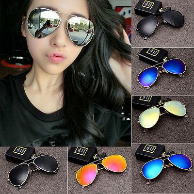 Unisex Vintage Retro Women Men Glasses Aviator Mirror Lens Sunglasses Fashion-01