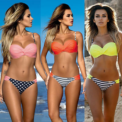 Womens Ladies Swimwear Swimsuit Push Up Bikini Padded Bikini Womens Bathers New