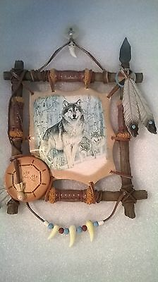 Rare Bradford Exchange~1st Issue~Sacred Powers~Tribal Watch~Al Agnew~2002~Wolf
