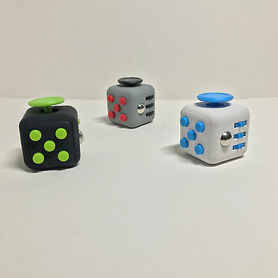 Fidget Cube Rubber High Quality - Stress Relief + Desk Toy