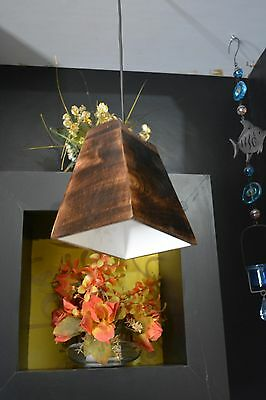 Ceiling Light Pendant Hanging Lamp Neina Disk Wood BROWN