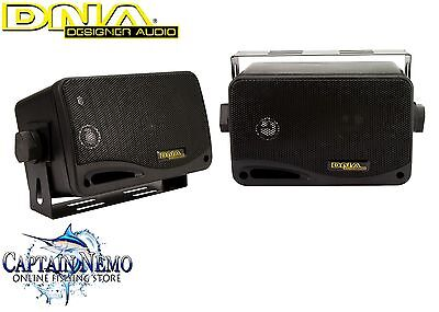 "Dna Marine Speakers 3"" 3 Way 60W Marine Boat Outdoor Stereo Box Speakers Msb300B"