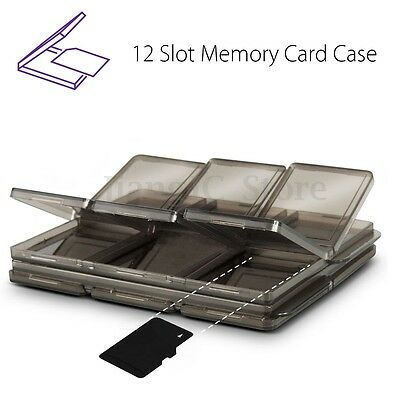 12 Slot Memory Card SIM Micro Carrying Storage Case Box Holder SD/TF Protector