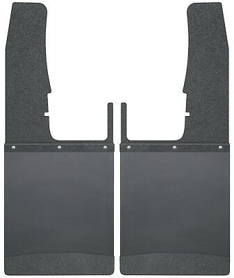 Mud Flap-Kick Back Mud Flaps Front 12 Wide - Black Top and Black Weight Husky