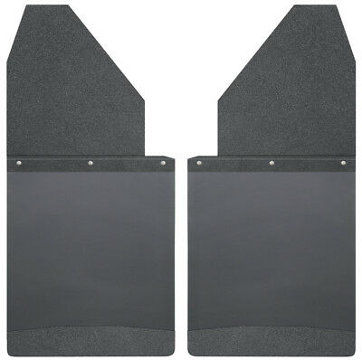 Mud Flap-Kick Back Mud Flaps 14 Wide - Black Top and Black Weight Husky 17112