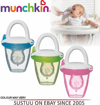 Munchkin Safe Easy On The Go Baby Food Silicone PureeTravel Feeder With Cap +4m