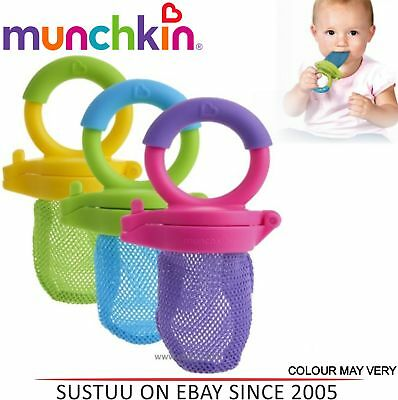 Munchkin Fresh Baby Food Squeezer/ Nibble/Feeder│+6 Month│ Easy Grip│New