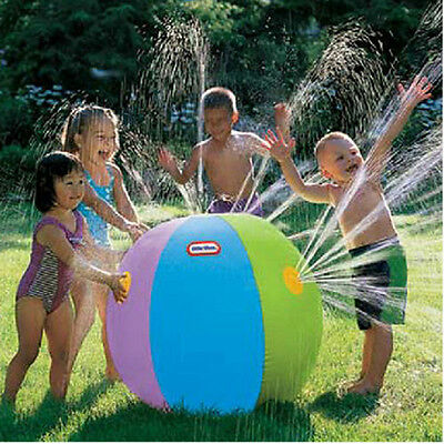 Kids Summer Outdoor Swimming Beach Inflatable Ball Water Fountain Engaging