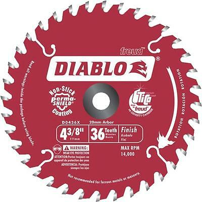 "Freud Diablo 4 3/8"" 36 Tooth Finish Circular Saw Carbide Blade D0436X"