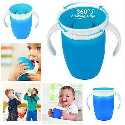 Baby Feeding Trainer Cup Munchkin Miracle 360 Degree Spill Proof For Kids Blue