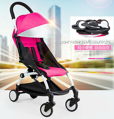 Toddler Kids Pushchair Lightweight Baby Pram Stroller Buggy Travel System Pink