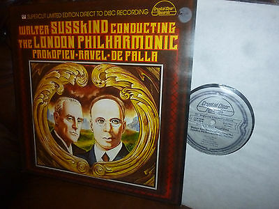 Audiophile Direct to Disc, Crystal Clear CCS 7006, Prokofiev Ravel Susskind LP