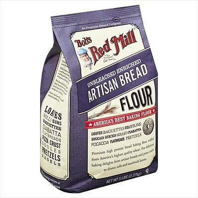 BOBS RED MILL, FLOUR BREAD ARTISAN, 5 LB, (Pack of 4)