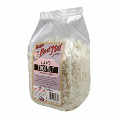BOBS RED MILL, COCONUT FLAKES UNSWT, 12 OZ, (Pack of 4)