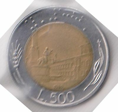 (H46-45) 1993 Italy 500L Coin (B)