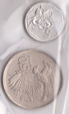 (H45-53) 1989 Philippines mix of 2 coins 5SEN& 50SEN (B)