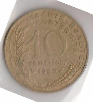 (H46-11) 1985 France 10c coin (C)