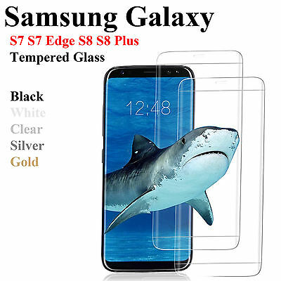 New Tempered Glass Screen Protector for Samsung Galaxy S8 Plus /S8 / S7 Edge /S7