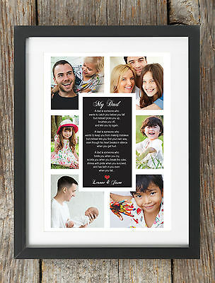 Personalised Happy Christmas Daddy Photo Print Gift Dad Collage Message Xmas