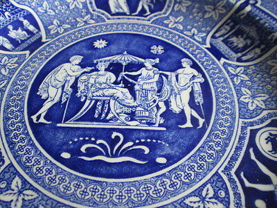 """Spode Blue Room Collection Greek Collectors Plate 9"""" Wide"""