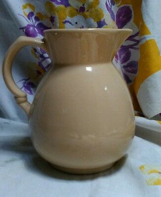 Vintage Shenango China, New Castle Pa. Ironstone, Water Pitcher Large~ Beige