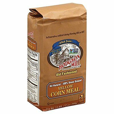 KEHE-71518050016-Hodgson Mill Corn Meal Yellow Plain, 5-pounds (Pack of6)