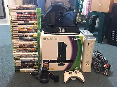 Xbox 360 Console With Kinect And 280 Games