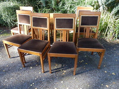 Set of 6 dining chairs, Edwardian style.