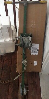 Greenlee 766 Manual Wire Cable Tugger Puller hand crank winch conduit #5104