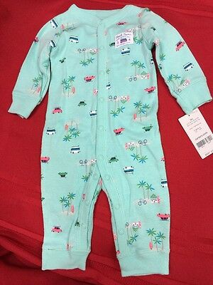 NWT Carter's Baby Boy Striped Trendy Romper 3 Months