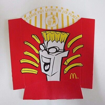 McDonald's Large French Fries Box - Fries Head - Mint Condition - Rare - 1990s