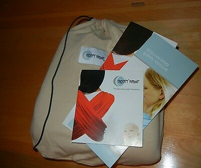 """Beige """"Sleepy Wrap"""" Baby Carrier with Drawstring Pouch & Instruction Booklet"""