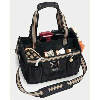 NOBLE OUTFITTERS EQUINESSENTIAL TOTE/GROOMING BAG in BLACK