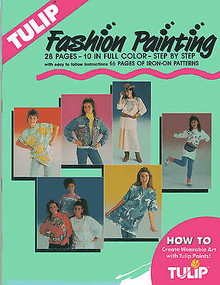 TULIP Fashion Fabric Painting Booklet (Iron On Patterns) *NEW* - FREE P&P