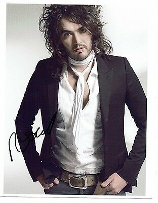 Russell Brand  British Comedian Actor Hand Signed Photograph 10 x 8