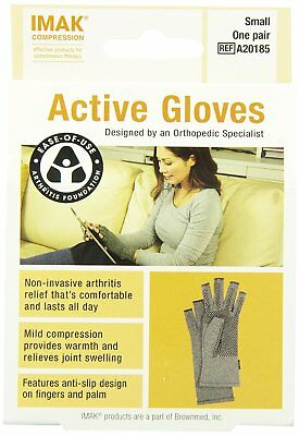 Brownmed Imak Active Arthitis Gloves, Size Small - 1 Pair (Pack Of 2)