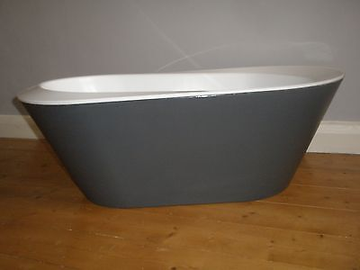 Hoppop baby bath - charcoal grey and white - COLLECTION ONLY