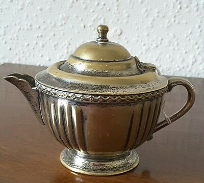 Antique small silver plate tea pot