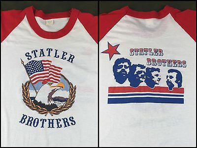 True Vintage 80s Statler Brothers Country Gospel Music Concert Raglan T-Shirt XL
